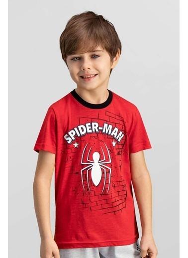 Spider-Man Spider Man Lisanslı Kırmızı Erkek Çocuk T-Shirt Kırmızı